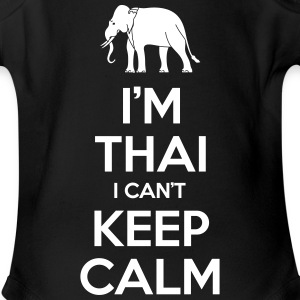 i'm Thai i Can't Keep Calm Baby & Toddler Shirts - Short Sleeve Baby Bodysuit