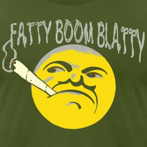 fatty boom blatty T-Shirts - Men's T-Shirt by American Apparel
