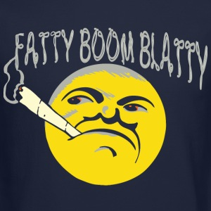 fatty boom blatty Long Sleeve Shirts - Crewneck Sweatshirt