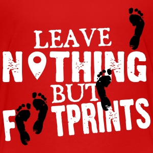 leave nothing but footprints Kids' Shirts - Kids' Premium T-Shirt