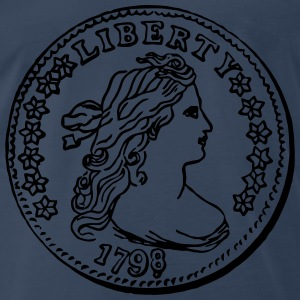 Liberty Dime 1796 - black - Men's Premium T-Shirt