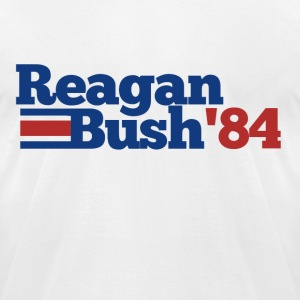 Reagan Bush 1984 84 republican  - Men's T-Shirt by American Apparel