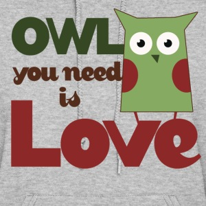 Owl you need is love owls - Women's Hoodie