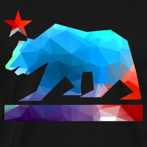 California State Bear (color fractals) - Men's Premium T-Shirt
