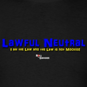 Lawful Neutral Alignment T-Shirts - Men's T-Shirt