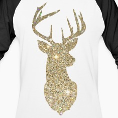 Golden Deer Head T-Shirts