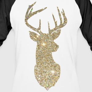 Golden Deer Head T-Shirts - Baseball T-Shirt
