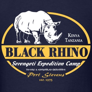 Black Rhino - Serengeti Safari T-Shirts - Men's T-Shirt