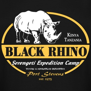 Black Rhino - Serengeti Safari T-Shirts - Men's Tall T-Shirt
