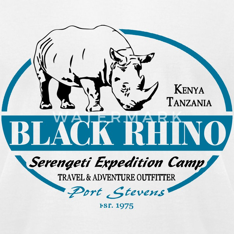 Black Rhino - Serengeti Safari T-Shirts - Men's T-Shirt by American Apparel