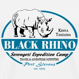 Black Rhino - Serengeti Safari T-Shirts - Men's Premium T-Shirt