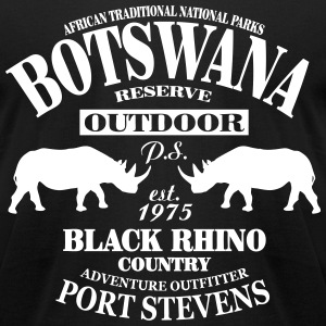 Black Rhino Botswana Safari T-Shirts - Men's T-Shirt by American Apparel