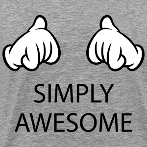 Simply Awesome (Hands / Pos / 2C) T-Shirts - Men's Premium T-Shirt