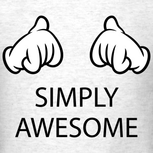 Simply Awesome (Hands / Pos / 2C) T-Shirts - Men's T-Shirt