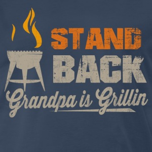 Grandpa Is Grillin T-Shirts - Men's Premium T-Shirt