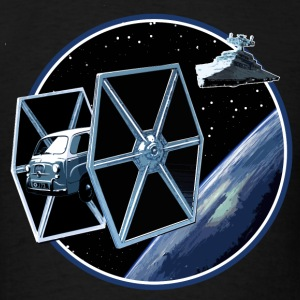 600 multipla TIE fighter 2 peoardu idea T-shirts - T-shirt pour hommes
