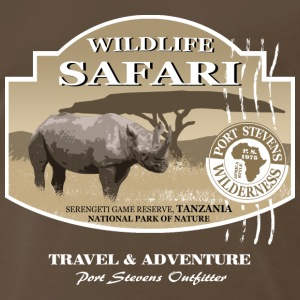 Rhino Safari Wildlife T-Shirts - Men's Premium T-Shirt