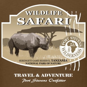 Rhino Safari Wildlife T-Shirts - Men's T-Shirt