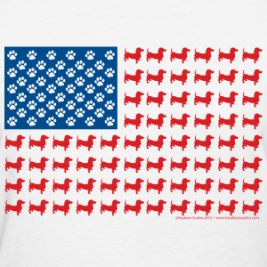 Patriotic Dachshund - Women's T-Shirt