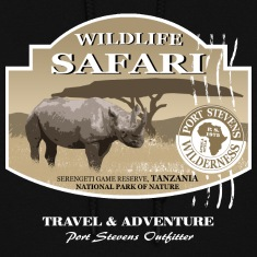 Rhino Safari Wildlife Hoodies