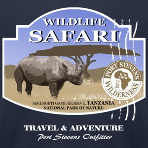 Rhino Safari Wildlife T-Shirts - Men's T-Shirt by American Apparel