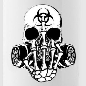 Biohazard Zombie Skull F U - Water Bottle
