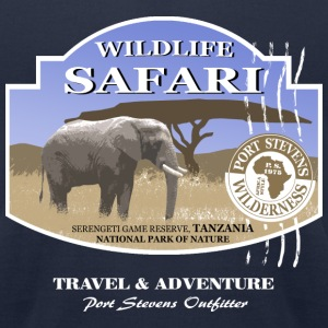 Elephant Safari Wildlife T-Shirts - Men's T-Shirt by American Apparel