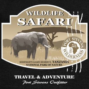 Elephant Safari Wildlife Long Sleeve Shirts - Women's Wideneck Sweatshirt