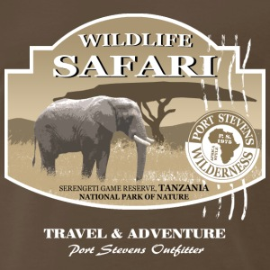 Elephant Safari Wildlife T-Shirts - Men's Premium T-Shirt