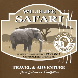 Elephant Safari Wildlife T-Shirts - Men's T-Shirt