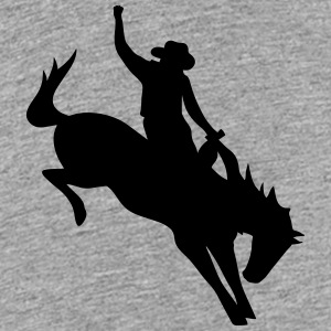 Rodeo Riding on a wild horse Kids' Shirts - Kids' Premium T-Shirt