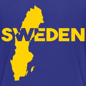 Sweden - flag (map,text) - Kids' Premium T-Shirt