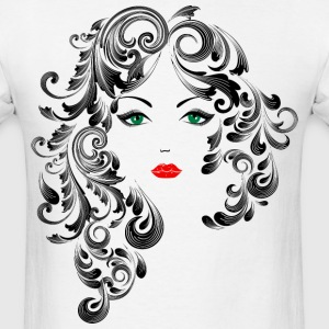 Black and White Drawing of a Woman - Men's T-Shirt
