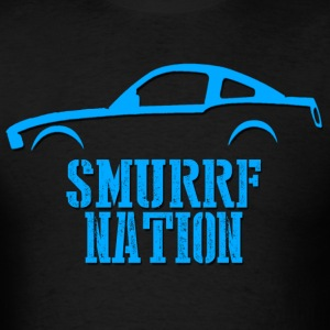 Dude in Blue Smurrf Nation T-Shirts - Men's T-Shirt
