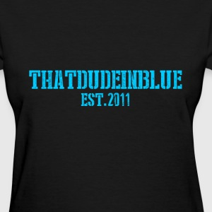 The Dude in Blue Logo Women's T-Shirts - Women's T-Shirt
