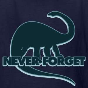 Never forget the dinosaurs - Kids' T-Shirt