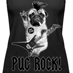 PUG ROCK! - Women's Premium Tank Top