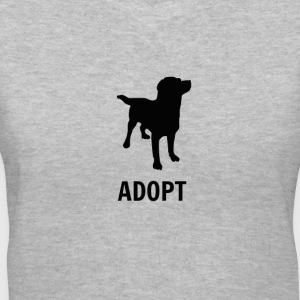 Adopt. - Women's V-Neck T-Shirt