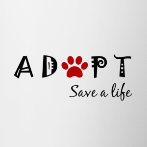 Adopt. Save a life. - Contrast Coffee Mug
