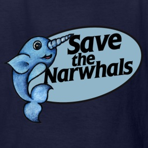 Save the narwhals  - Kids' T-Shirt
