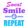 Sweat Smile And Repeat Workout Gym Exercise - Women's Premium Tank Top