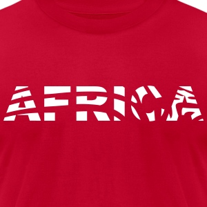 AFRICA Zebra T-Shirts - Men's T-Shirt by American Apparel
