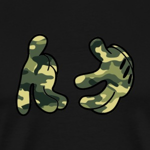Mickey Mouse Camo Hands T-Shirt - Men's Premium T-Shirt