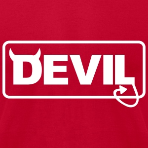 Devil T-Shirts - Men's T-Shirt by American Apparel
