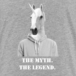 Unicorn The Myth The Legend Grey Hoodie White.png Kids' Shirts - Kids' Premium T-Shirt