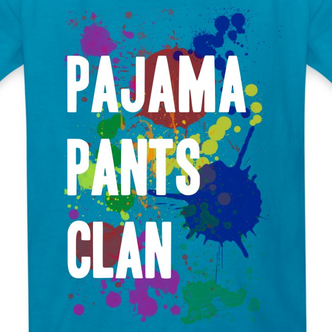 Pajama Pants Clan Teal Kids