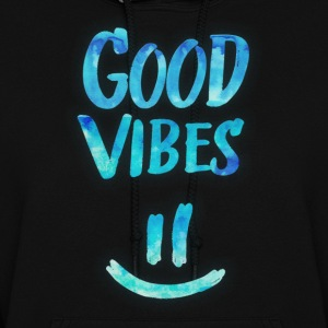 Good Vibes - Funny Smiley Statement / Happy Face Hoodies - Women's Hoodie