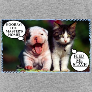 DOG VS CAT-THIS IS WHY DOGS AND CATS ARE DIFFERENT - Toddler Premium T-Shirt