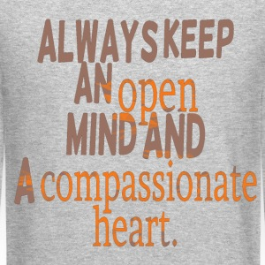 compassion cool quote Long Sleeve Shirts - Crewneck Sweatshirt