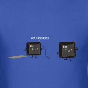 Funny keyboard joke for geeks t shirt - Men's T-Shirt